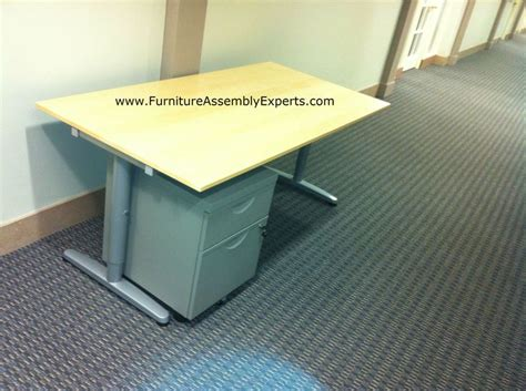 ikea galant desk and file cabinet assembled in lorton va