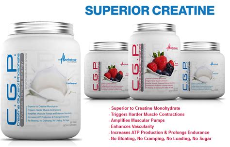 c g p creatine c g p by metabolic nutrition lowest prices at