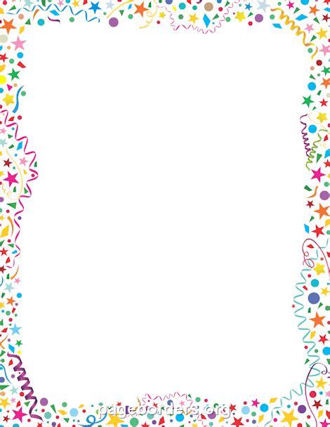 Free Confetti Border Clip