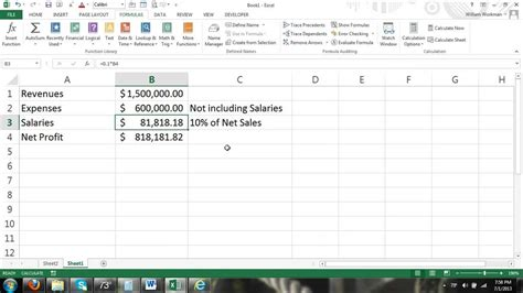 excel tutorial reference excel tutorial circular reference iterations how to