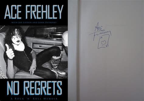of atari signed edition books ace frehley autographed no regrets hardcover book