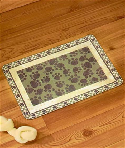 paw print rugs green or paw print rug or runner mat pet cat kitchen floor nonskid new ebay