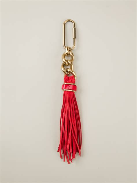 Tassel Earring Key lyst lanvin tassel key ring in