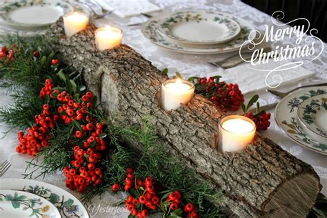 rustic log centerpieces yesterfood rustic log centerpiece