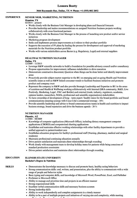 Diet Tech by Diet Technician Resume Survey Social Services Manager Resume Cover Letter Tips Personalize