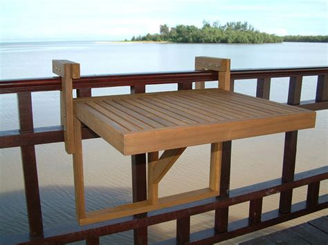Stockholm Adjustable Folding Balcony Deck Table Ideas Wet