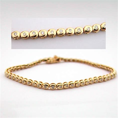 Bracelet or diamants 95 ? Bijou d?occasion : Bijoux anciens Paris Or