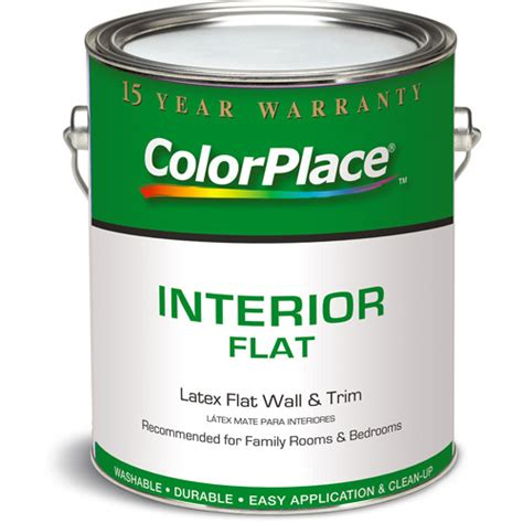 color place interior flat paint white 1 gallon walmart