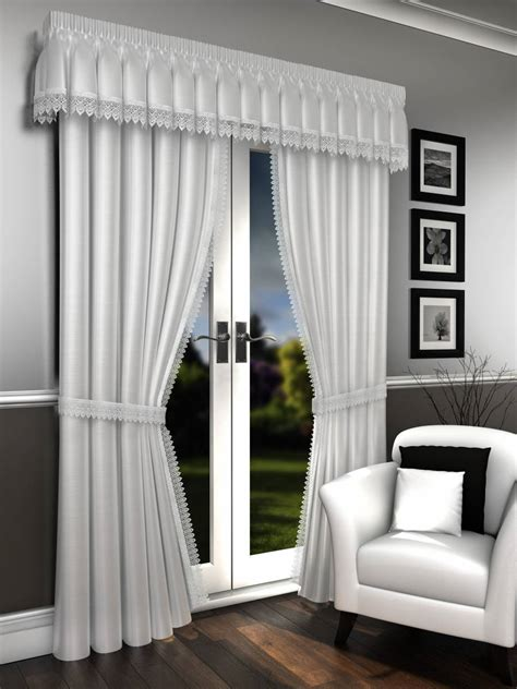 pelmet rods for curtains lorna white voile lined curtains pelmet sold separate