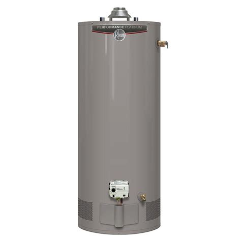 Water Heater Gas Niko rheem performance platinum 40 gal 12 year 38 000 btu high efficiency gas water