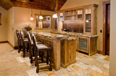 simple basement bar in the basement with these basement bar ideas