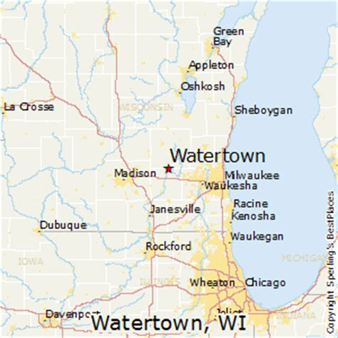 watertown wi map best places to live in watertown wisconsin