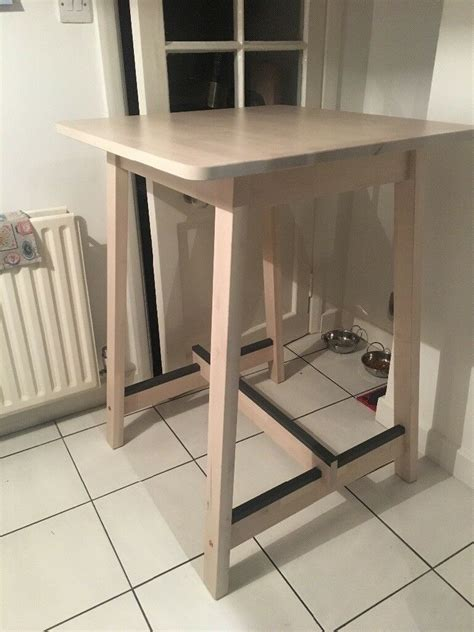 ikea norraker breakfast bar table white birch  west