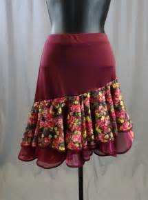 pattern latin dress two layer flower pattern latin skirt with built in under pants