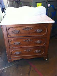 items similar to antique 3 drawer wood dresser with marble