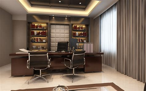 executive office photoreal executive office 3d model max cgtrader com