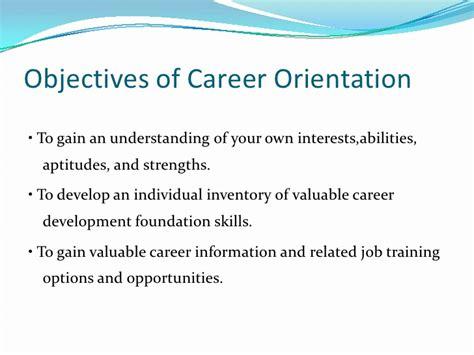 objectives of career development career orientation and development