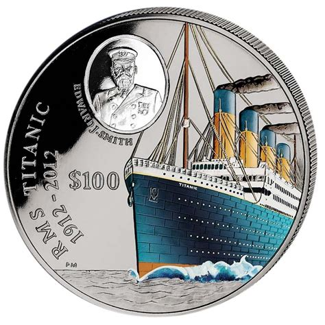 colored coins silver colored coin 100 years titanic 2012 1 kg