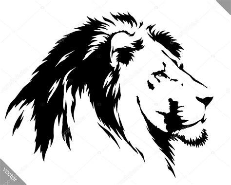 imagenes de leones blanco y negro le 243 n empate de blanco y negro pintura lineal vector