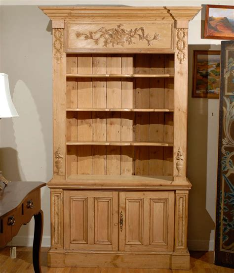 pine bookcase made from reclaimed wood at 1stdibs
