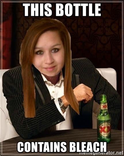 Amanda Todd Memes - this bottle contains bleach amanda todd hehe meme generator