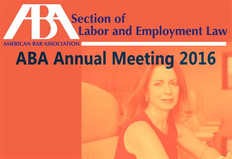 aba section of labor and employment law brenda feis at aba section of labor and employment law