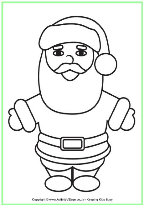 christmas coloring pages for dads father christmas colouring page