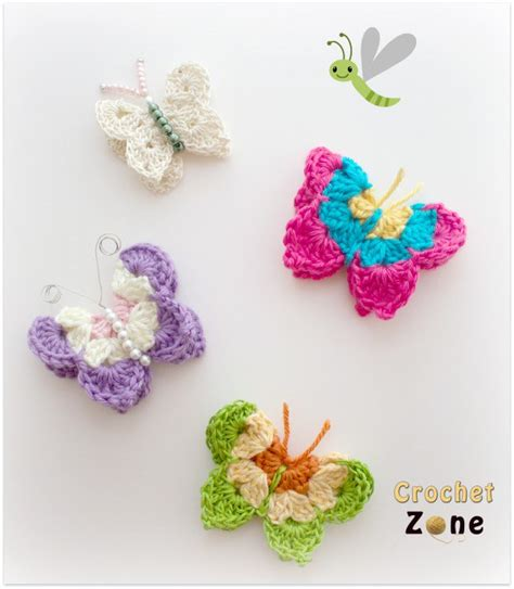 butterfly pattern in crochet free crochet pattern for butterflies crochet zone
