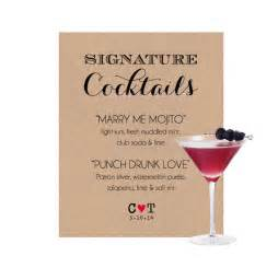 signature drinks for wedding