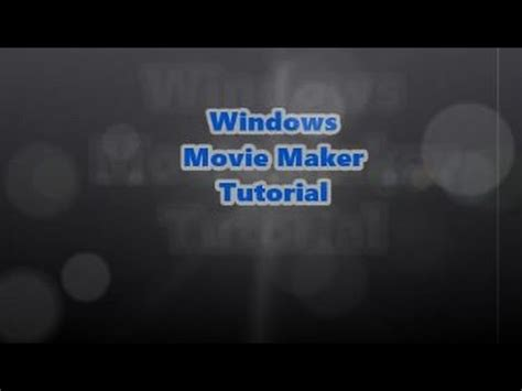 windows movie maker tutorial slow motion how to make slow motion in windows movie maker youtube