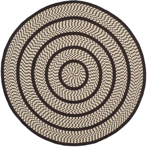 6 ft rug safavieh braided ivory brown 6 ft x 6 ft area rug brd401e 6r the home depot