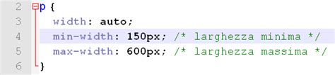 css layout minimum width css gestire la larghezza con min width e max width