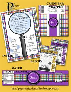 paper perfection scavenger hunt birthday invitation and printables