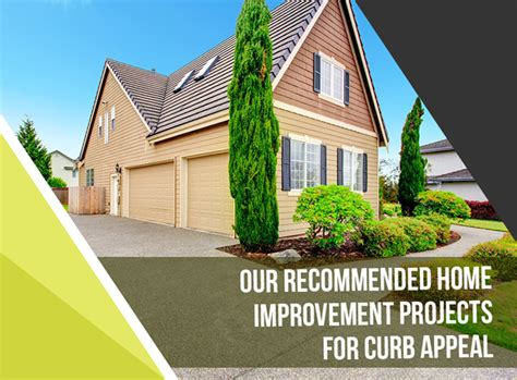 our recommended home improvement projects for curb appeal