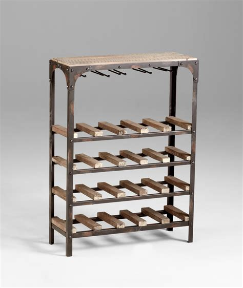 decorative wine racks for home gallatin free standing wine rack by cyan design