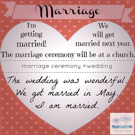 common marriage phrases skypenglish4u