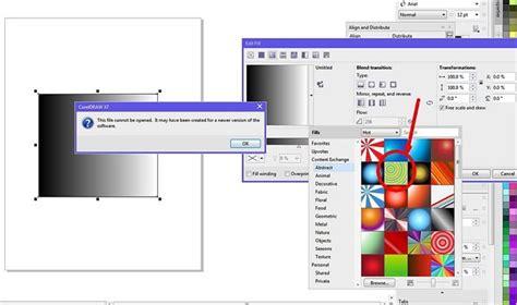 corel draw x7 gradient fill new fill error message in x7 coreldraw graphics suite x7
