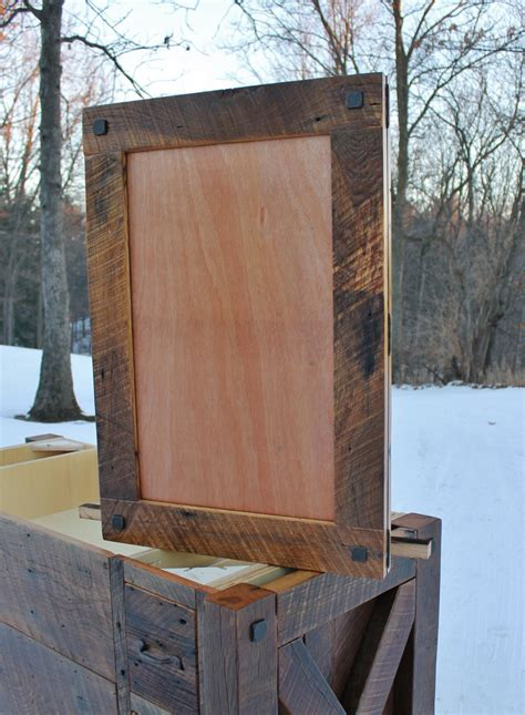 reclaimed wood medicine rustic medicine recessed w mirror frame reclaimed