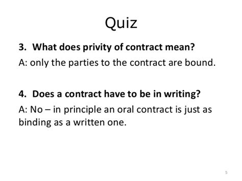 Privity Of Contract Essay by Pob Stage 2 Topic 12 Introduction To Contract Seminar 29 Slides O
