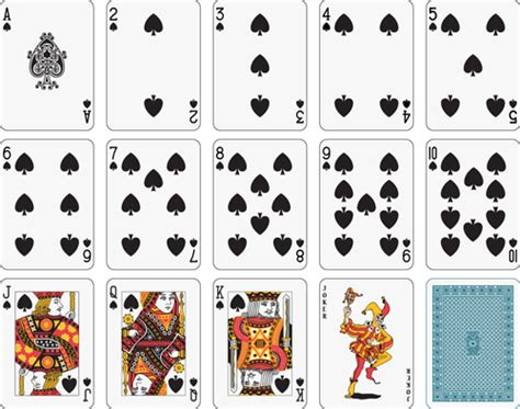deck of cards club template different card vector graphic 05 free