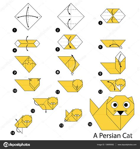 Origami Cat Step By Step - step by step origami cat 28 images how to make an