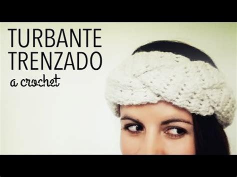 tutorial turbante com lenço turbante banda vincha en trenza a crochet paso a