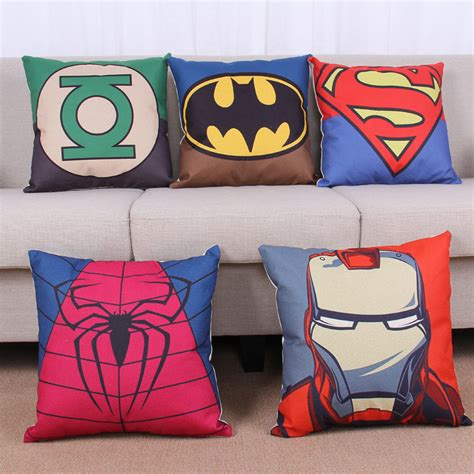 batman sofa super man iron man batman spider man captain america green
