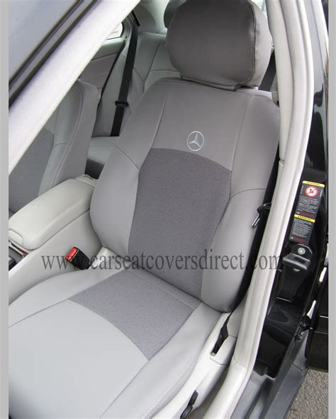 mercedes seat covers mercedes c class w203 grey leatherette seat covers car