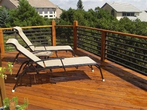 deck railing  heavy gauge black rail railings
