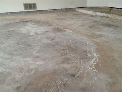 Garage Floor Moisture by Concrete With Moisture Problems Mvl Concretes