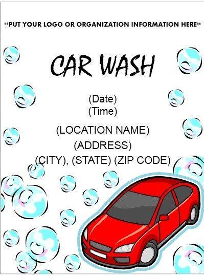 free car wash ticket template free car wash car wash flyer template stationary templates car wash