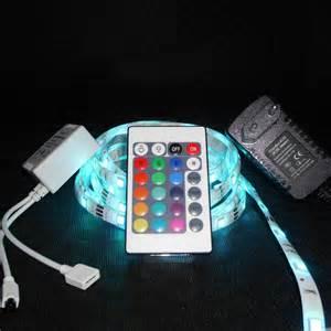 led beleuchtung mit fernbedienung led lichtband 3 meter 5050 rgb 24 tasten fernbedienung