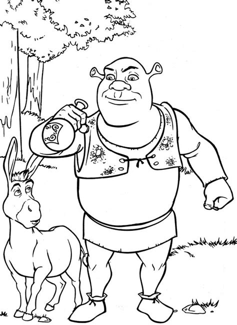 shrek coloring pages games 17 best images about coloring for kids on pinterest