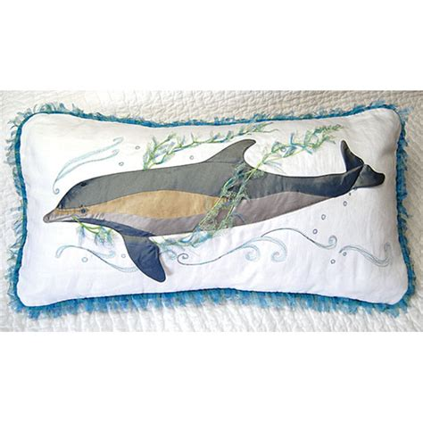 Dolphin Pillows by S Gem Dolphin Embroidered Pillow